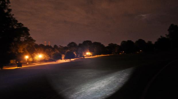 Legion II flashlight beam
