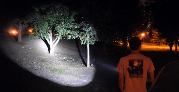 Legion II lighting up some trees
