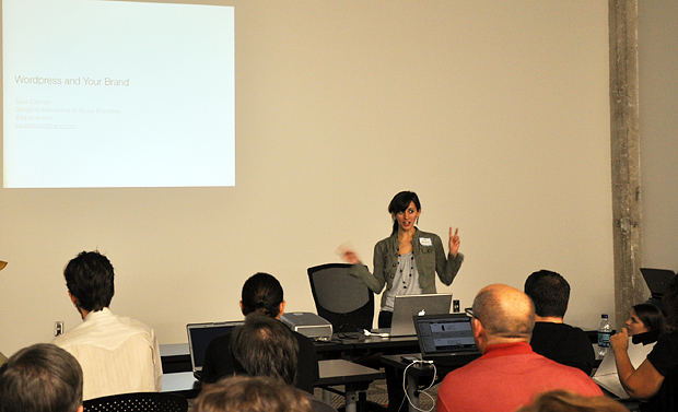 Sara Cannon talking WordPress and Your Brand