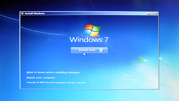 Installing Windows 7 Ultimate