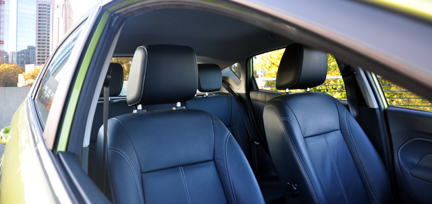 Ford Fiesta interior - front seats