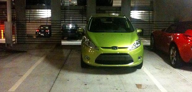 Fiesta in a parking spot
