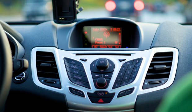Fiesta center console radio system