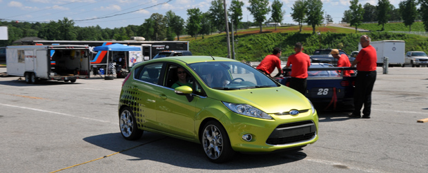 Ford Fiesta at Road Atlanta with Formula Ford racer Rossella Manfrinato at the wheel