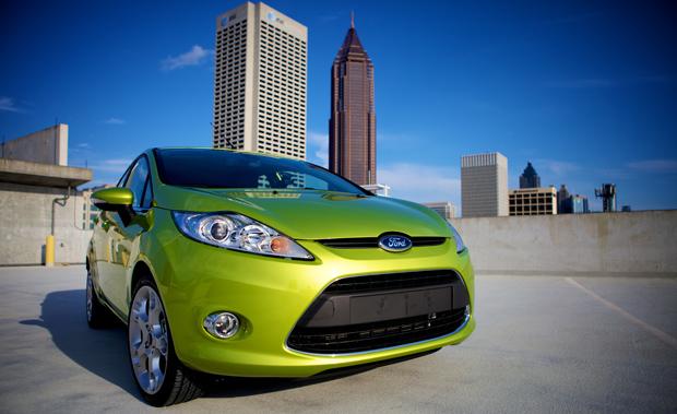 Ford Fiesta and Atlanta Skyline