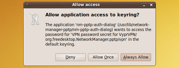 Allow application access to keyring - Network Manager - Ubuntu