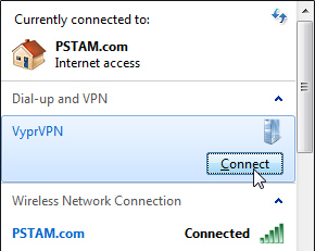 Connect to networks - Windows 7