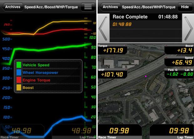 iPhone Rev app screenshots