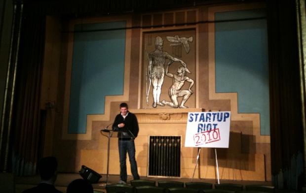 Bo Peabody at Startup Riot