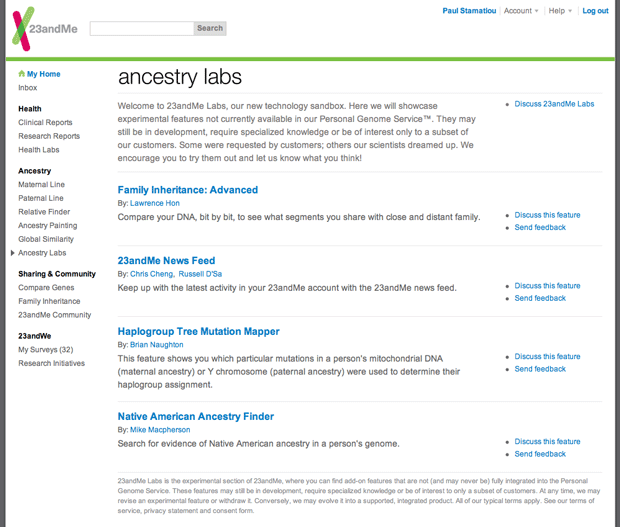 Ancestry Labs at 23andMe