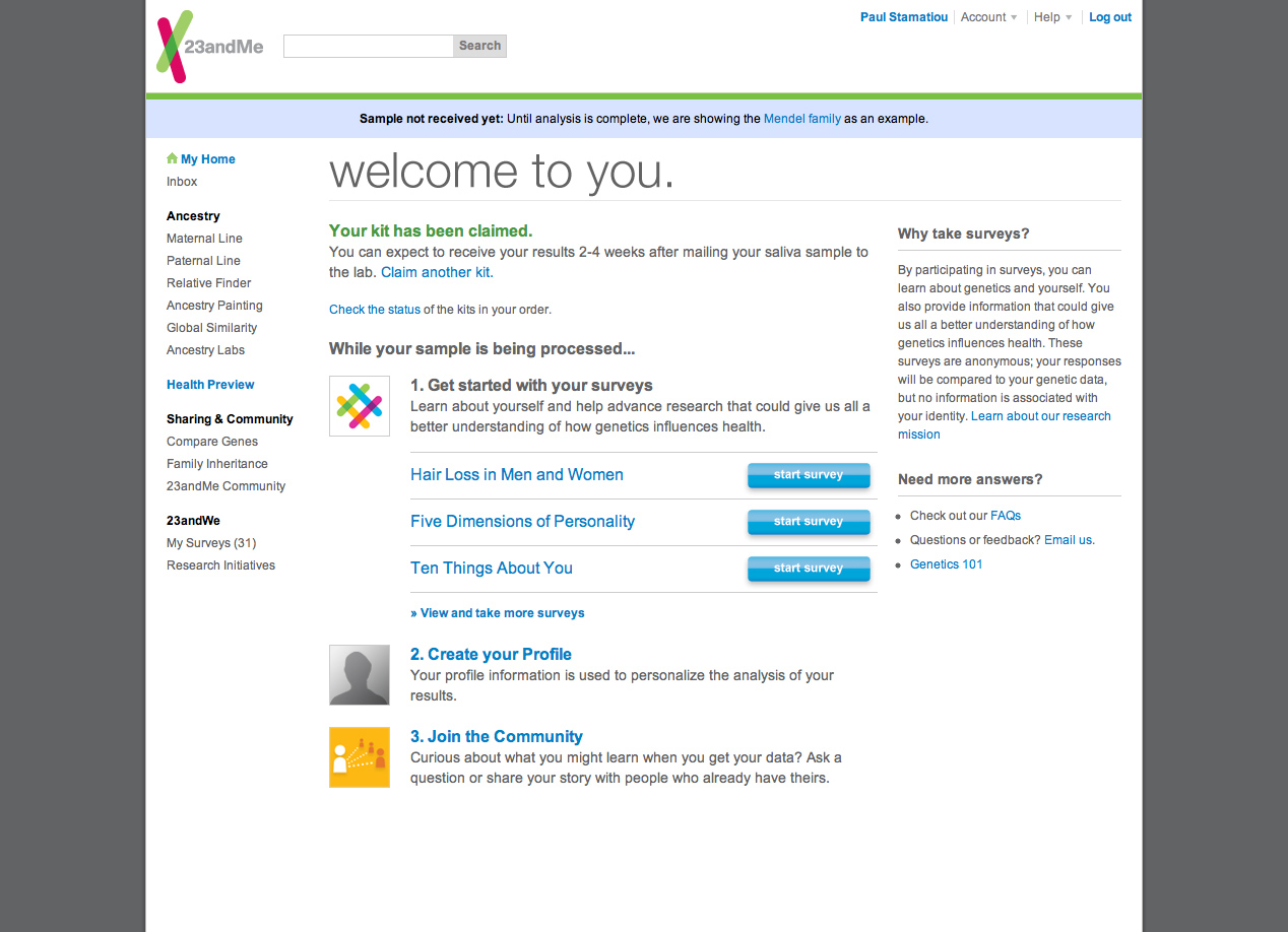 Review: 23andMe DNA Testing for Health, Disease & Ancestry