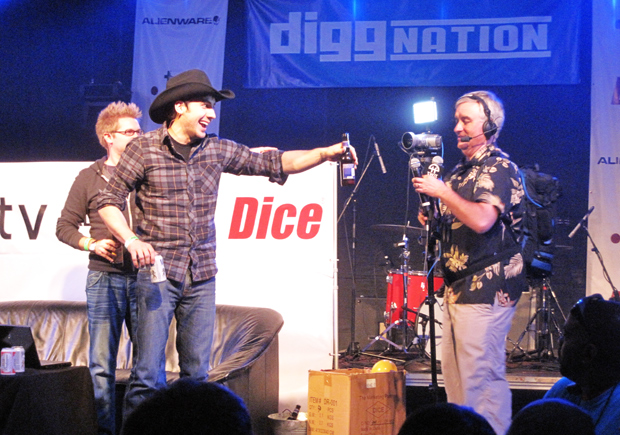 Alex Albrecht, Kevin Rose and Leo Laporte at Diggnation