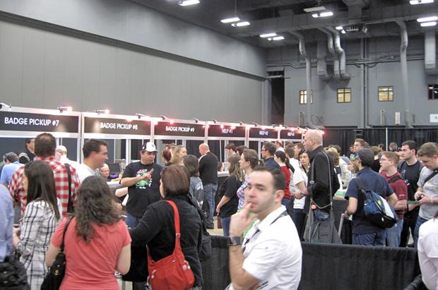 SXSW badge lines at Austin Convention Center