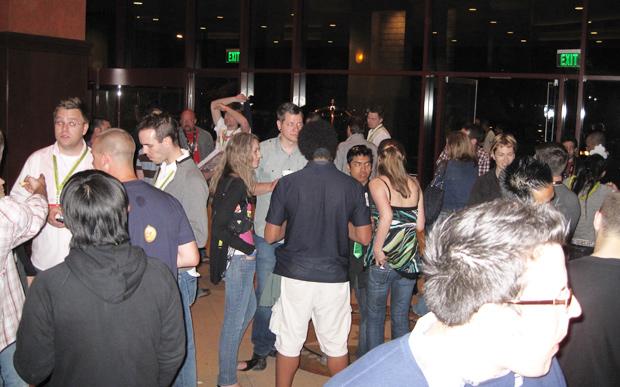 SXSW Hilton Austin Downtown at night
