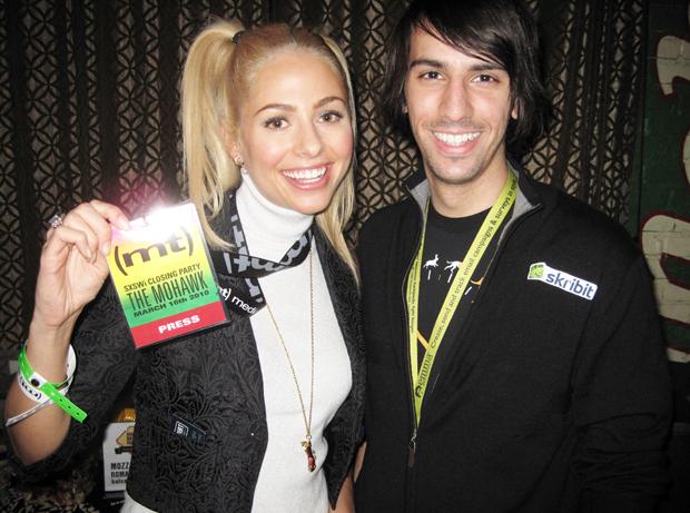Sarah Austin and Paul Stamatiou at Media Temple party