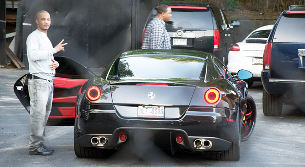 Rapper T.I. and his Ferrari 599