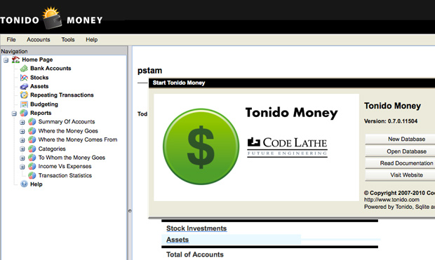 Tonido Money App