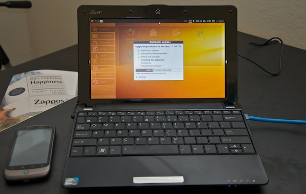 Asus Eee PC 1005HA installing Ubuntu