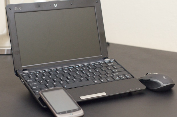 Paul's Mobile Netbook Setup - Eee PC, Logitech Mouse, Nexus One
