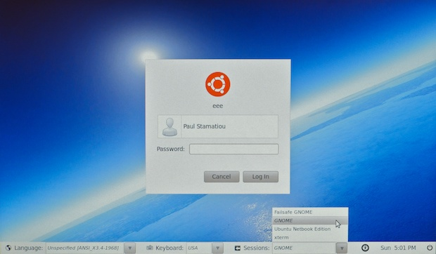 Logging into Ubuntu 10.04 with Gnome