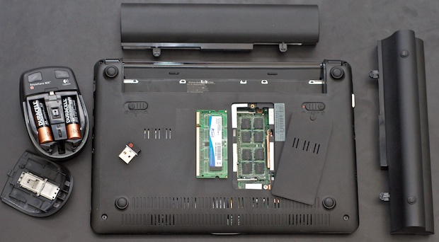 ASUS Eee PC Upgrades - Logitech Anywhere MX mouse, Crucial 2GB RAM, extended battery