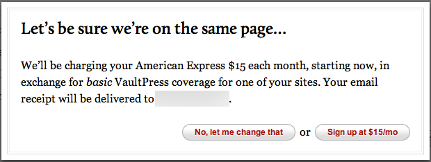 VaultPress Pricing
