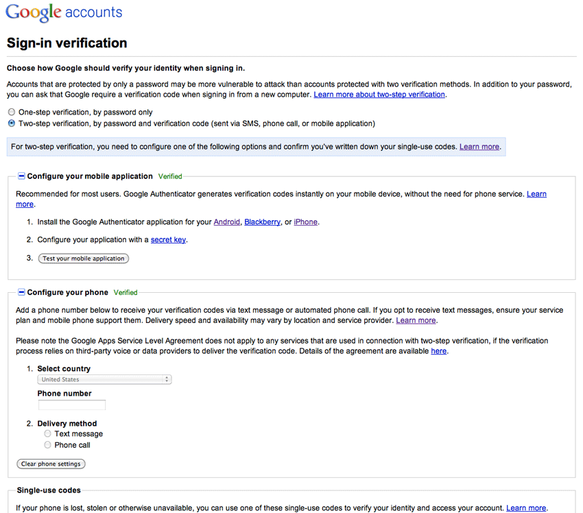 thoughts on google apps two step verification paulstamatiou com