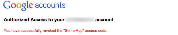 Revoke access code for Google Apps Two-step verification
