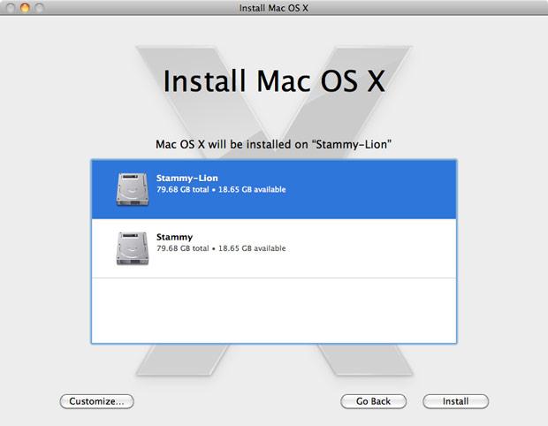 Mac OS X 10.7 Lion Install