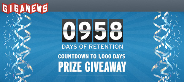 Giganews usenet 1000 days of retention contest