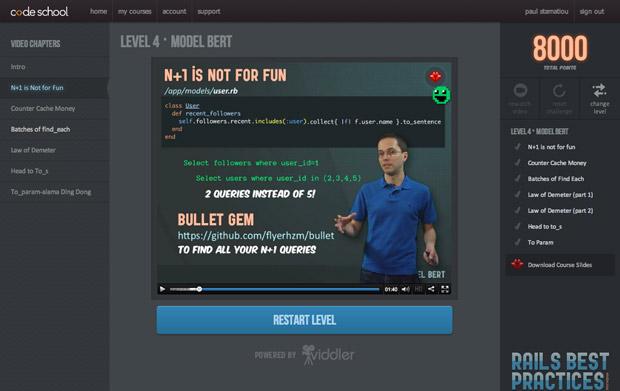 Code school video