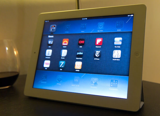 News apps folder - Apple iPad 2