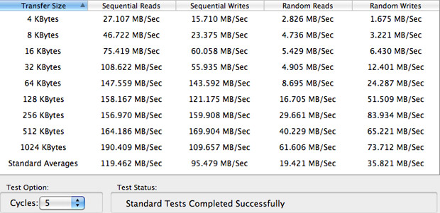 QuickBench Seagate Momentus XT results