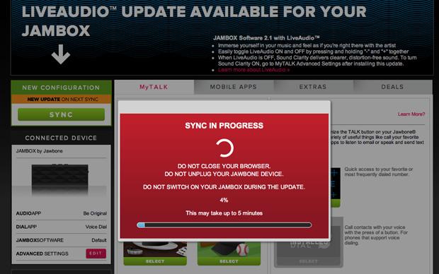 Jawbone jambox updater