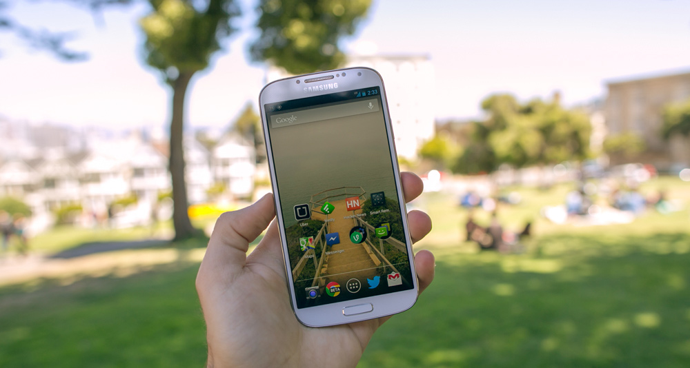 Samsung Galaxy S4 in Alamo Square Park, San Francisco, California