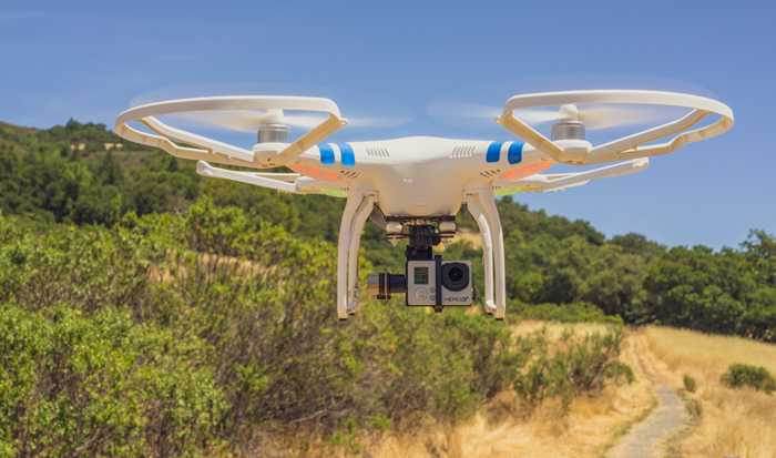 DJI Phantom 2 with HD-3D gimbal and GoPro