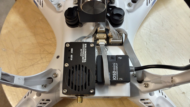 DJI Phantom 2 FPV Hub install with AVL58