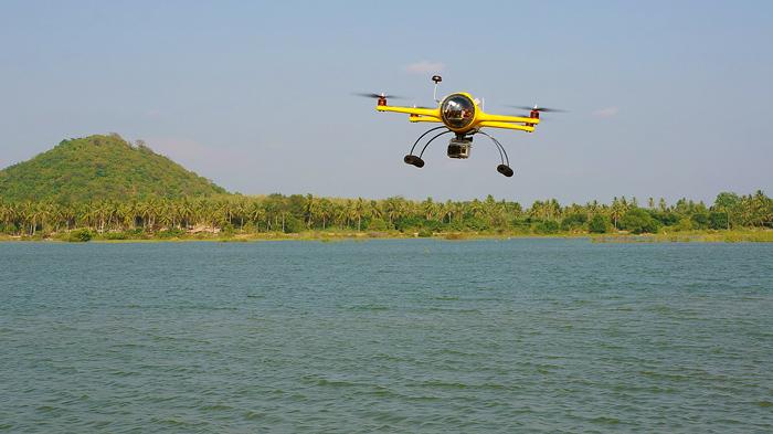 The quadh2o waterproof drone