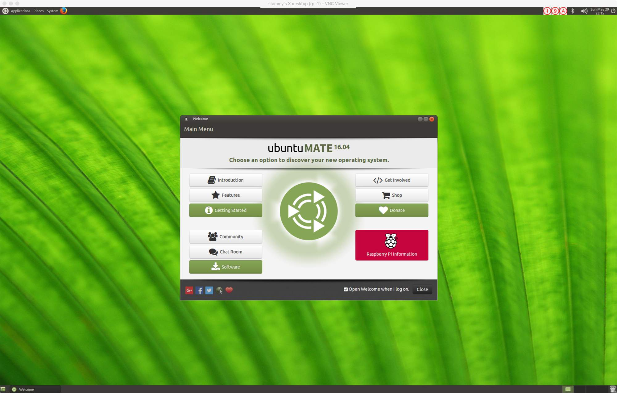 Ubuntu MATE via realVNC Viewer Mac